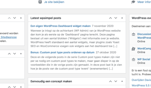 Een WordPress dashboard RSS-feed widget maken